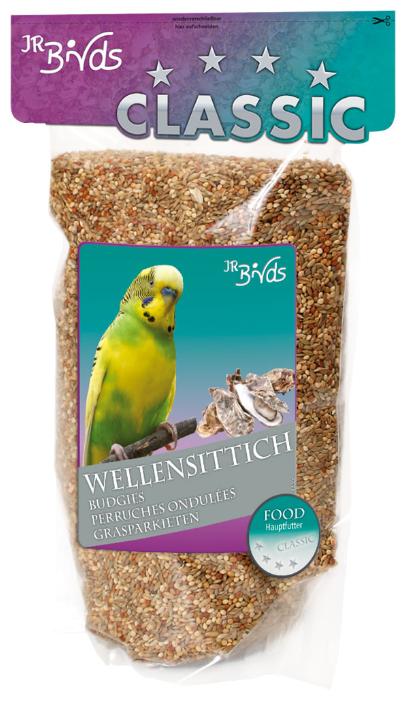 Корм для декоративных птиц JR FARM Classic для волнистых попугаев 1кг 08395 для волнистых попугаев, 1000гр.