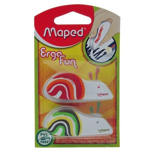 Maped Набор ластиков Ergo Fun 2 шт. оранжевый/зеленый/белыйЛастики<br>