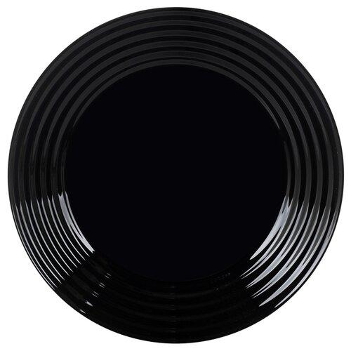 Luminarc Тарелка десертная Harena Black 19 см L7613 черный тарелка суповая luminarc harena black 23 5 см