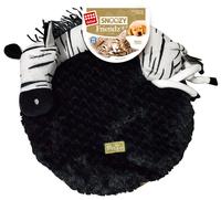 Лежак для кошек, для собак GiGwi Snoozy Friendz Зебра 3D 57х57х14 см белый/черный