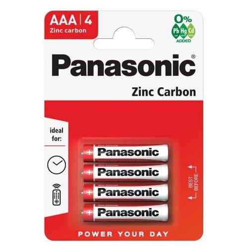 Батарейка Panasonic Zinc Carbon AAA/R03 4 шт блистер батарейка camelion green series aaa 4 шт блистер