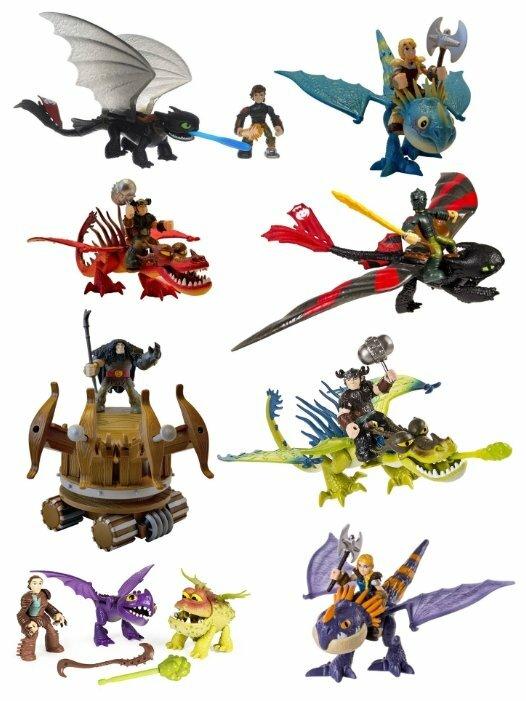 Dragons 66594 набор дракон и всадник драго и боевая машина