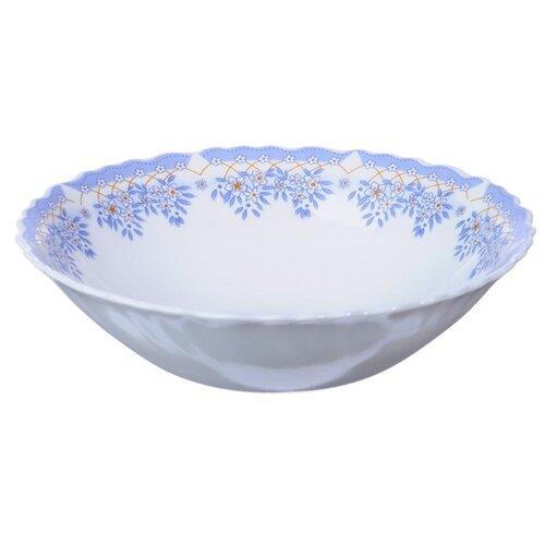Millimi Салатник Аполлон2 16.5 см белый/голубой