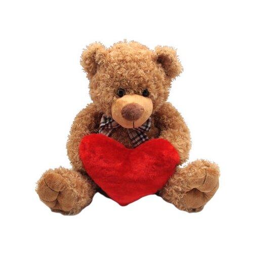 Мягкая игрушка Magic Bear Toys Мишка коричневый с сердцем 40 см, Мягкие игрушки  - купить со скидкой