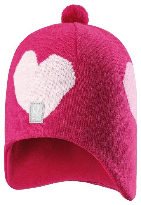 Шапка-бини Reima размер 54, розовый