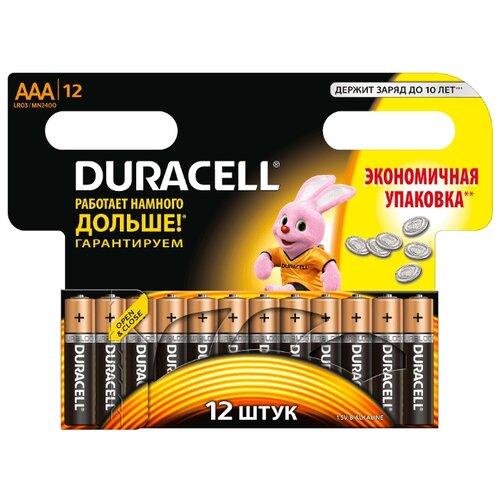 Батарейка Duracell Basic AAA 12 шт блистерБатарейки и аккумуляторы<br>