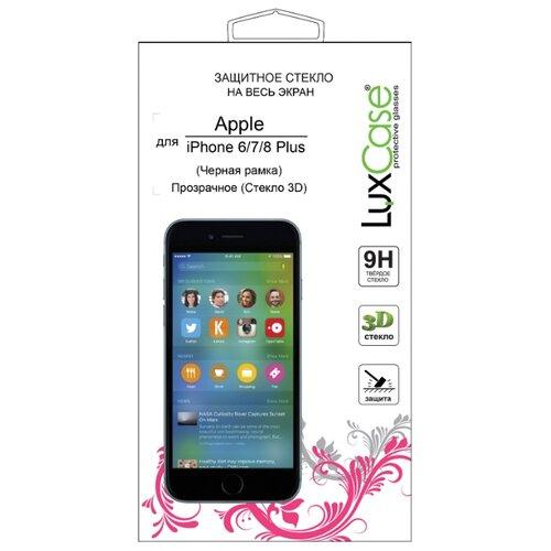 Защитное стекло LuxCase 3D FG для Apple iPhone 6 Plus/7 Plus/8 Plus черный стекло защитное vlp для iphone 8 7 plus 3d antispy черная рамка