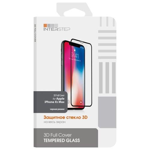 Защитное стекло INTERSTEP 3D Full Cover для Apple iPhone XS Max черный защитное стекло interstep full screen cover 0 3мм sams a7 2017 a720 black