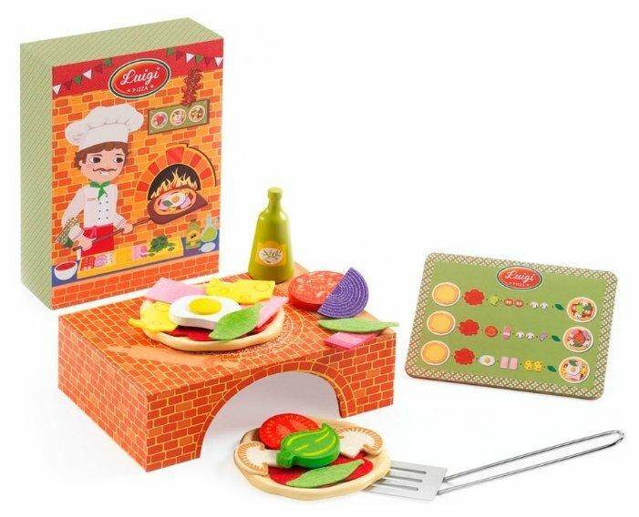 Набор продуктов с посудой DJECO Пиццерия 06538/17