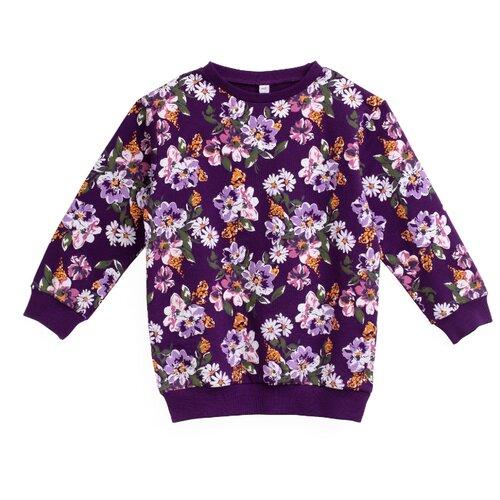Купить Свитшот playToday размер 116, фиолетовый/розовый, Толстовки