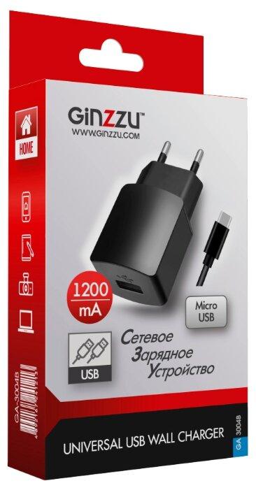 Сетевая зарядка Ginzzu GA-3004B