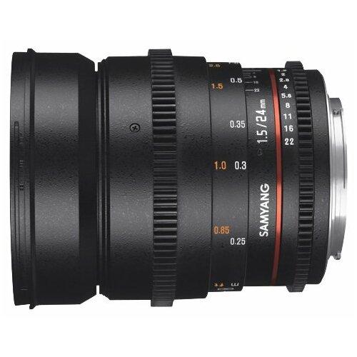 Фото - Объектив Samyang 24mm T1.5 ED AS UMC VDSLR II Canon EF объектив samyang 24mm t1 5 ed as umc vdslr canon ef