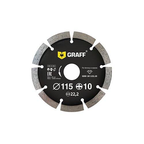 Фото - Диск алмазный отрезной 115x2x22.2 GRAFF 22 1 шт. диск отрезной 125x1 6x22 23 graff gadm 125 16 1 шт