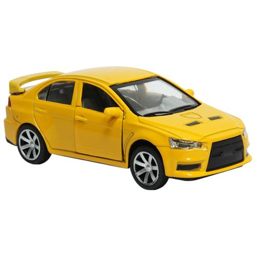 Купить Легковой автомобиль Handers Mitsubishi Lancer EVO (HAC1602-021) 1:32 17 см желтый, Машинки и техника