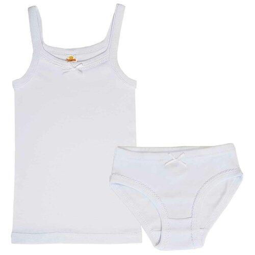 Комплект нижнего белья Папитто размер 92-98, белый комплект нижнего белья ibala размер 30 92 98 белый розовый красный