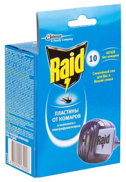 Фумигатор Raid + 10 пластин 639958