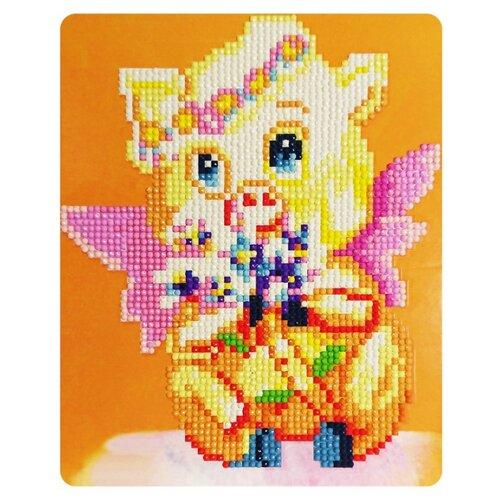 Купить Color Kit Набор алмазной вышивки Милая хрюшка (M019) 17х21 см, Алмазная вышивка