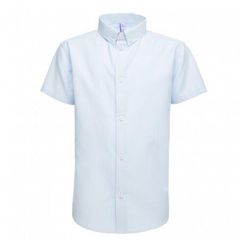Купить Рубашка playToday размер 140, голубой, Рубашки