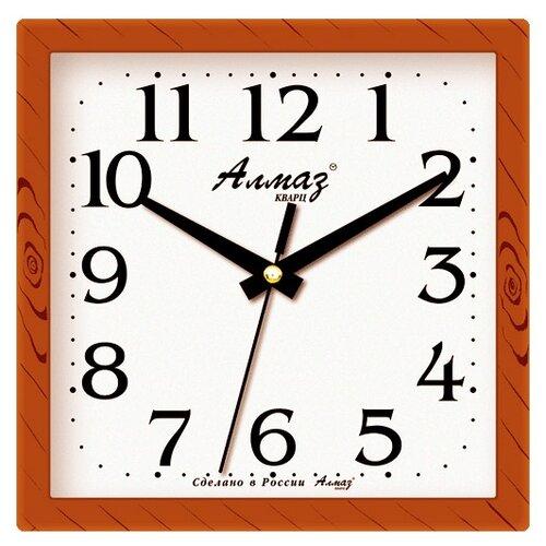 Фото - Часы настенные кварцевые Алмаз M03/M05 светло-коричневый / белый часы настенные кварцевые алмаз a87 коричневый белый