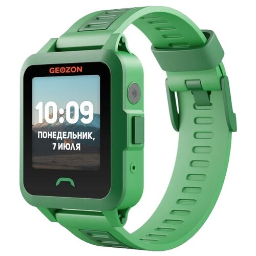 Детские умные часы c GPS GEOZON ACTIVE зеленый детские умные часы c gps geozon active розовый