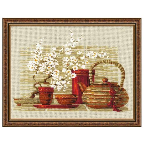 Купить Риолис Набор для вышивания крестом Чай 30 х 24 см (1122), Наборы для вышивания