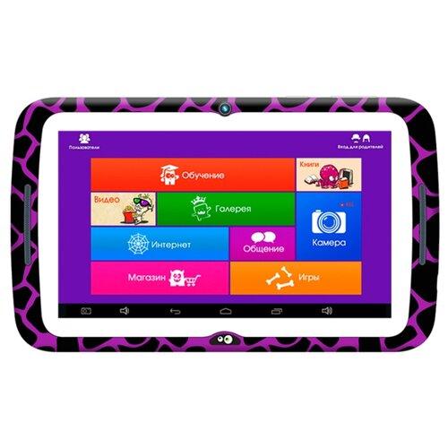 Планшет MonsterPad Жираф/леопард черно-фиолетовый