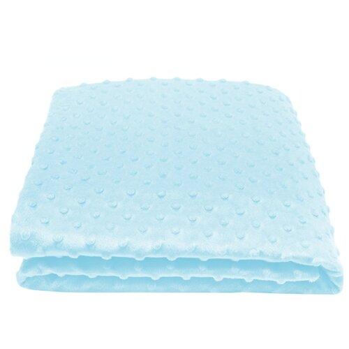 Купить Плед Сонный Гномик Горошек 90х90 см голубой, Покрывала, подушки, одеяла