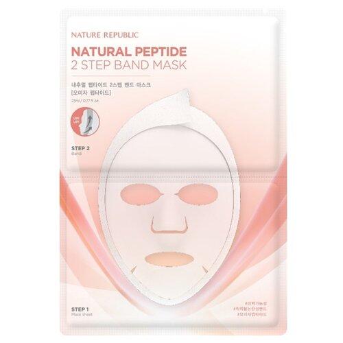 NATURE REPUBLIC двухшаговая маска Natural Peptide 2 step Band Schizadra Peptide c пептидами китайского лимонника, 23 мл c peptide