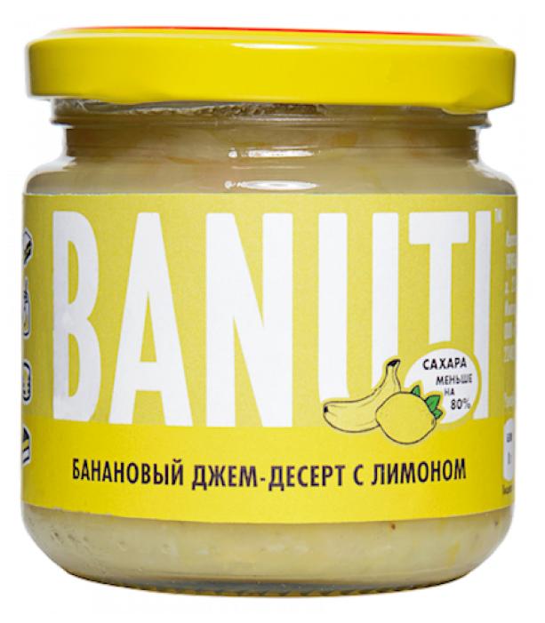 Джем-десерт Banuti банановый с лимоном, банка 200 г