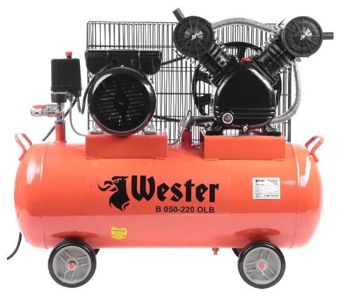 Компрессор масляный Wester B 050-220 OLB, 50 л, 2.2 кВт
