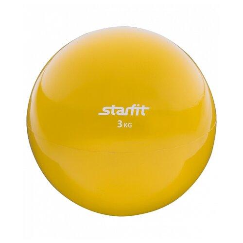 Медбол Starfit GB-703, 3 кг желтый медбол start up nt40320 1 кг черный желтый