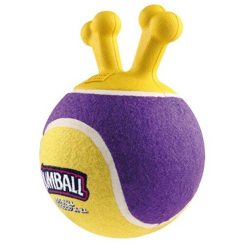 Мячик для собак GiGwi Jumball с захватом (75364) фиолетовый/желтый