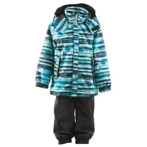 Комплект с полукомбинезоном KERRY Vita K19020 размер 110, 6350 бирюзовый/черныйКомплекты верхней одежды<br>