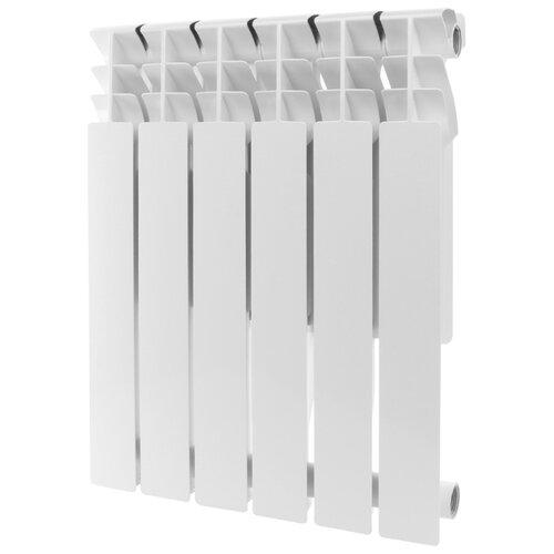 Радиатор секционный алюминий ROMMER Al Plus 500 x6 подключение универсальное боковое RAL 9016 биметаллический радиатор rifar рифар b 500 нп 10 сек лев кол во секций 10 мощность вт 2040 подключение левое