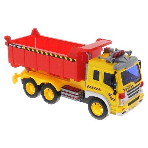 Купить Грузовик Fun toy 44404/12 1:16 желтый/красный, Машинки и техника