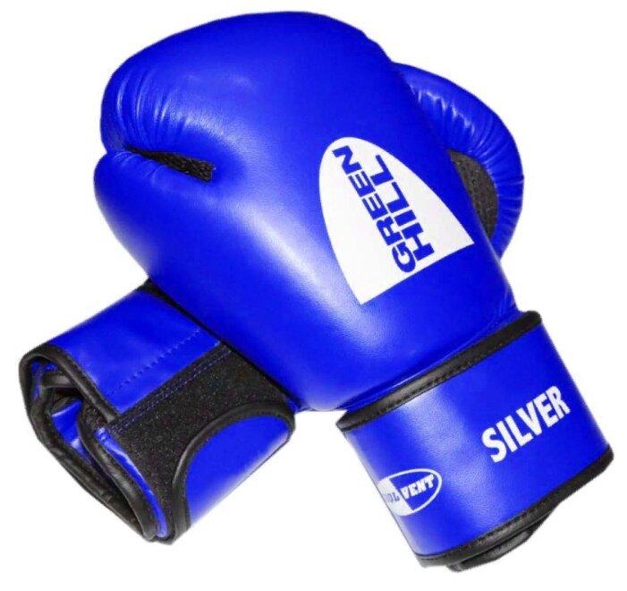 Перчатки боксерские GREEN HILL SILVER BGS-2039 синие