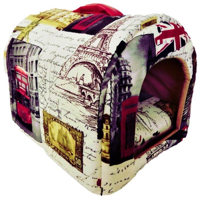 Домик для кошек, для собак LOORI Европа Z1149 28х35х28 см с принтом