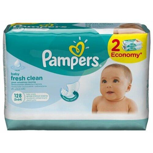 Купить Влажные салфетки Pampers Baby Fresh Clean 128 шт.