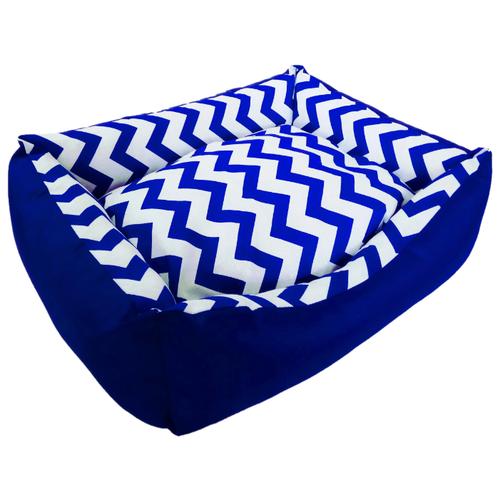 Лежак для собак и кошек LOORI Зигзаг 55х45х15 см синий