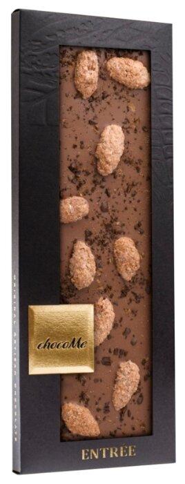 Шоколад chocoMe молочный с бурбонской ванилью миндалем, корицей, дробленым кофе