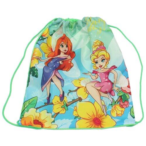 Prof-Press мешок для обуви Феи в цветах (МО-0830) голубой/желтый/зеленый