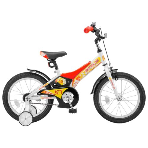 Детский велосипед STELS Jet 16 Z010 (2018) белый/красный (требует финальной сборки)Велосипеды<br>