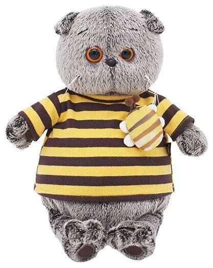 Мягкая игрушка Budi Basa Басик в полосатой футболке с пчелой 30 см - Ks30-092