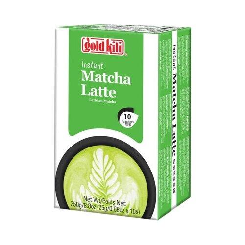 Чайный напиток Gold kili Matcha latte растворимый в пакетиках, 10 шт. имбирь натуральный gold kili пакетированный 80 г 20 саше