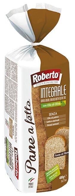 Roberto Хлеб Pane a fette Integrale пшеничный цельнозерновой тостовый в нарезке 400 г