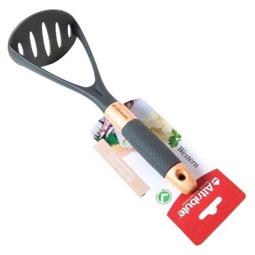 Картофелемялка Attribute Western, нейлон/силикон/дерево серый/бежевыйКухонная навеска<br>
