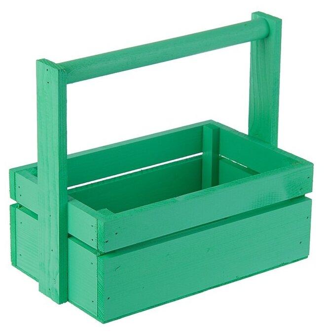 Ящик Дарите счастье массив сосны с ручкой 25×10.5×16 см