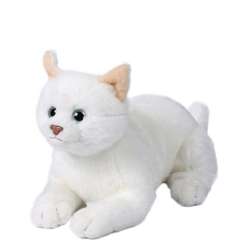 Купить Мягкая игрушка Anna Club Plush Кошка Русская белая лежащая 14 см, Мягкие игрушки