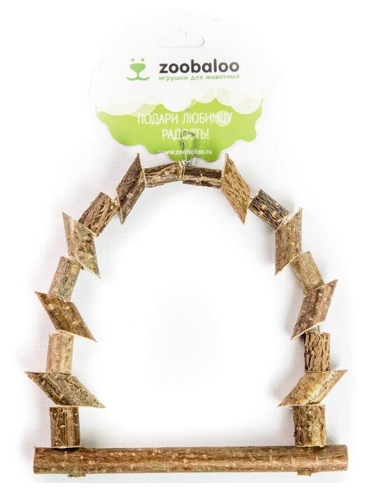 Игрушка для птиц Zoobaloo Качели из брусочков
