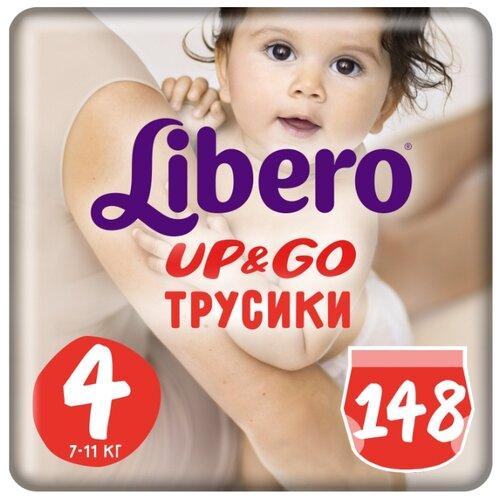 Купить Libero трусики Up & Go 4 (7-11 кг) 148 шт., Подгузники